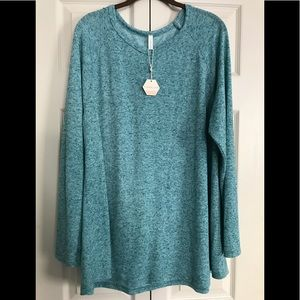 Pinkblush Turquoise long sleeve top